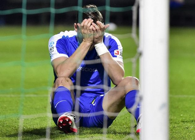 Ani Radim Breite z Liberce nedokázal vstřelit gól.