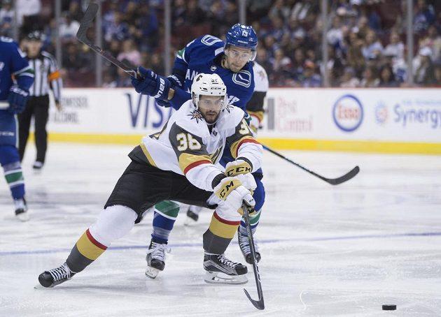 Český útočník Tomáš Hyka byl v dresu Vegas Golden Knights hodně vidět. Do sítě Vancouveru vstřelil hned dvě branky.