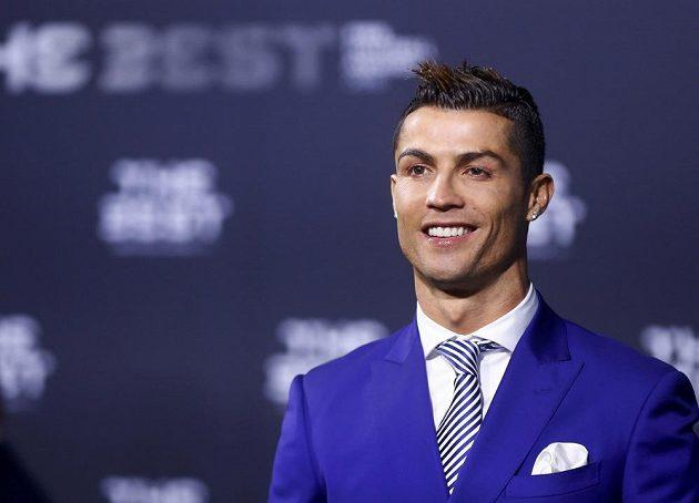Cristiano Ronaldo v Curychu na vyhlášení nejlepšího fotbalisty světa.