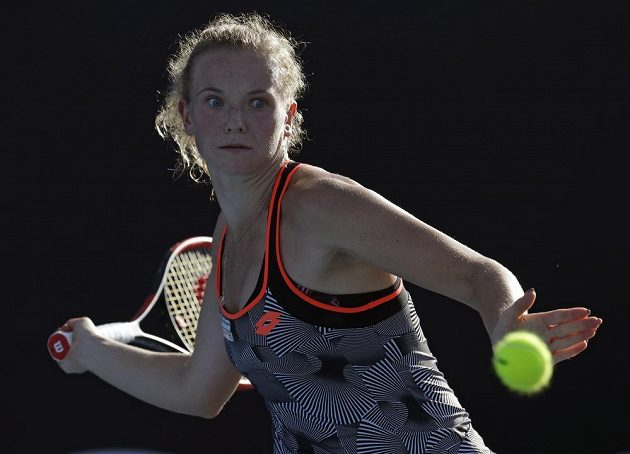 Kateřina Siniaková na prvním grandslamovém turnaji roku.
