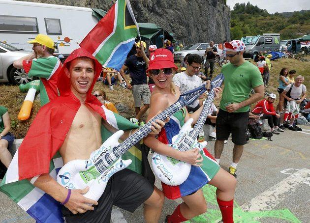 Bavili se i fanoušci cyklistiky z daleké Jihoafrické republiky.