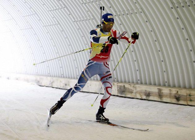 Sprint mužů, na snímku Francouz Martin Fourcade.
