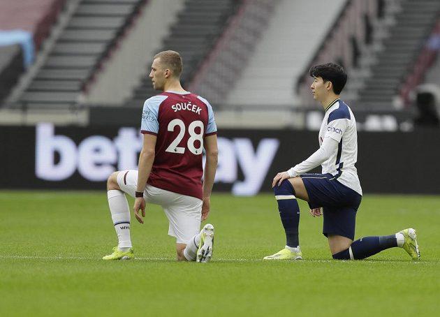 Tomáš Souček před zápasem West Hamu s Tottenhamem