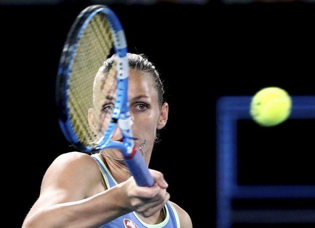 Nasazená dvojka tenisového Australian Open - Karolína Plíšková - v akci.