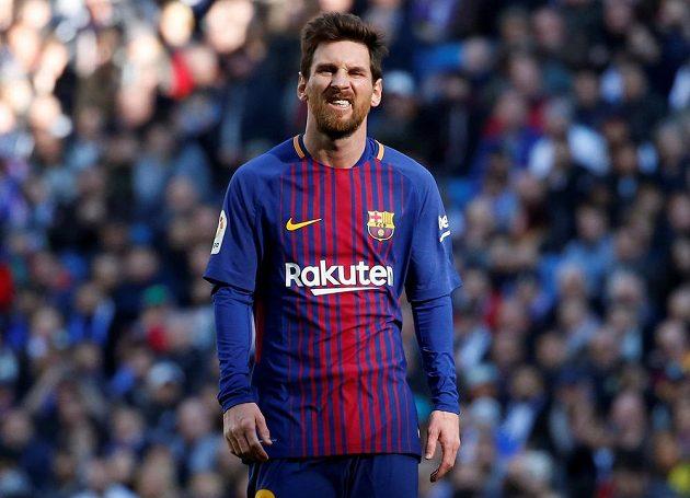 Ani Lionel Messi nebyl v prvním poločase spokojený s výsledkem.