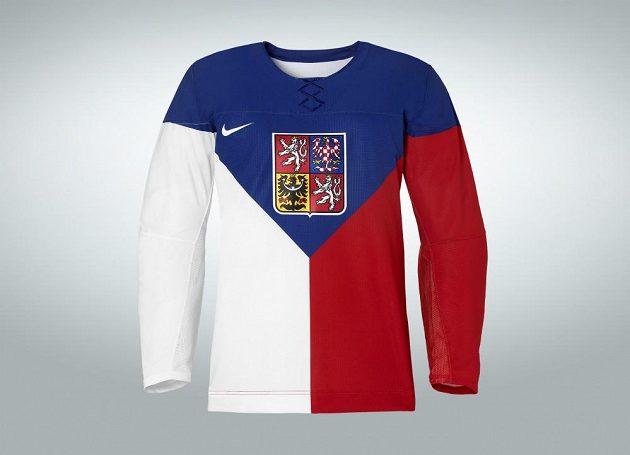 Domácí varianta hokejového dresu pro OH v Soči