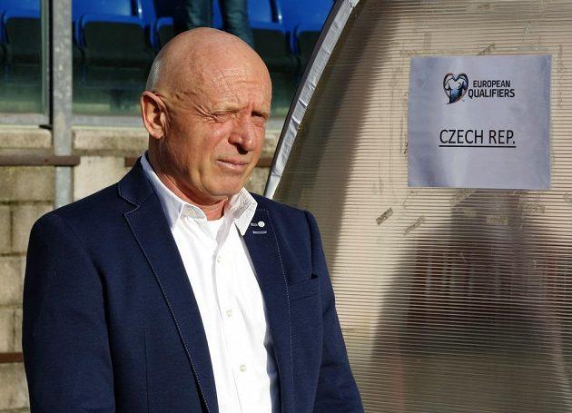 Český trenér Karel Jarolím před utkáním se San Marinem.