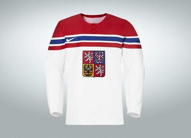 Venkovní varianta hokejového dresu pro OH v Soči