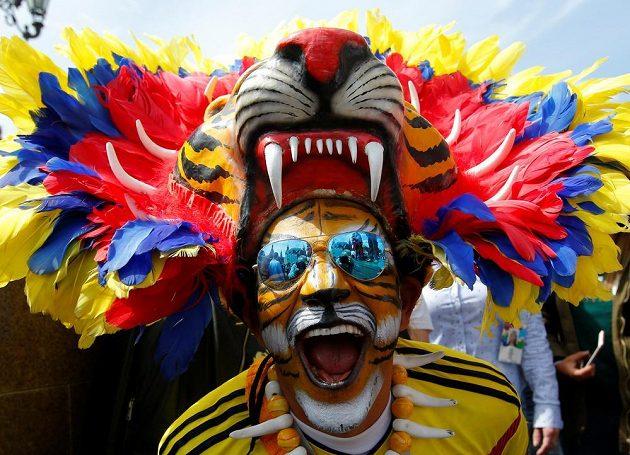Kolumbijci patří určitě k těm nejkreativnějším fotbalovým fanouškům.