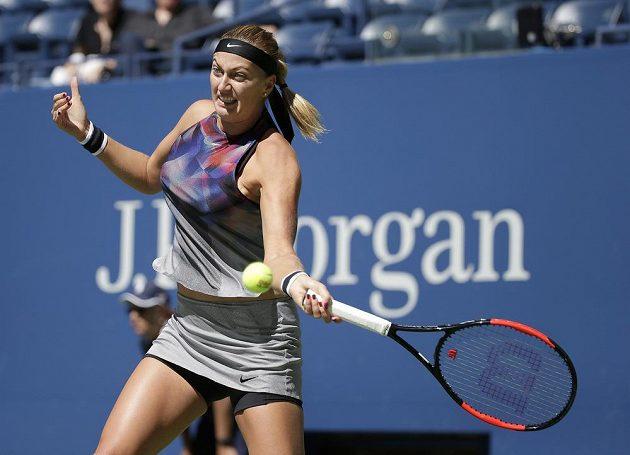 Petra Kvitová během zápasu s Garciaovou.