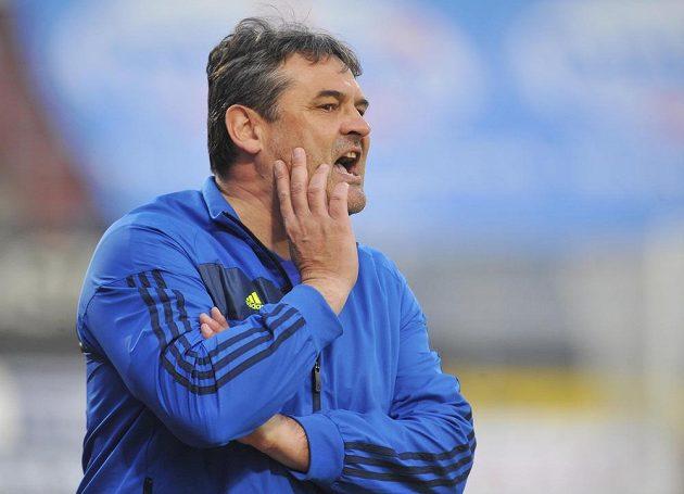 Olomoucký trenér Ladislav Minář během utkání 27. kola Gambrinus ligy s Ostravou.