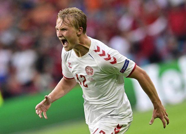 Kasper Dolberg se na vítězství nad Walesem podílel dvěma góly