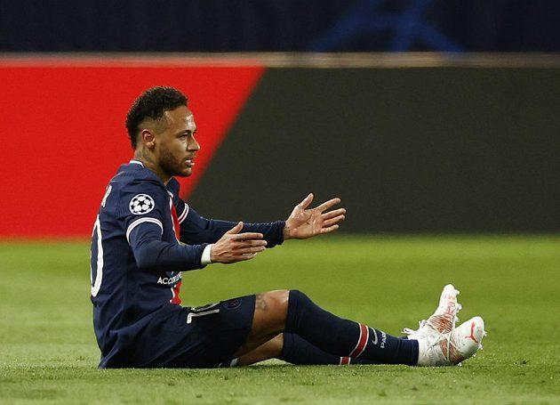 Reakce hvězdného Neymara z PSG během čtvrtfinále Ligy mistrů.