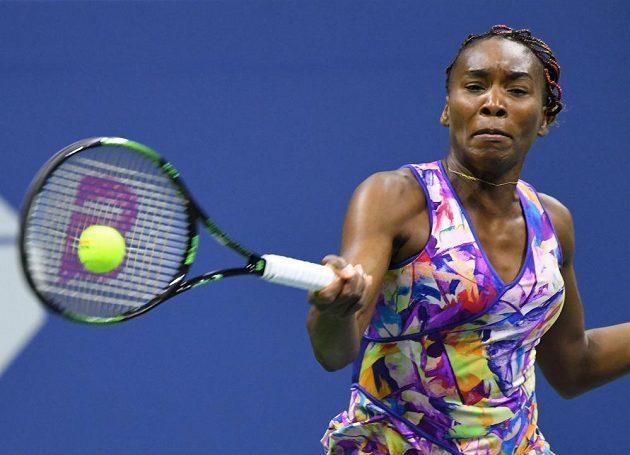 Americká tenistka Venus Williamsová při utkání 3. kola US Open.