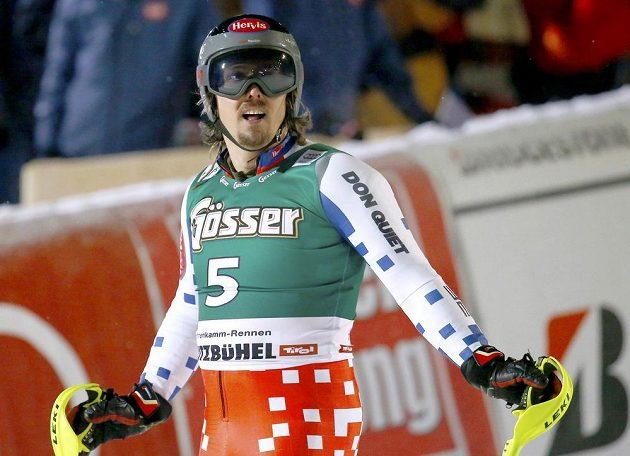 Ondřej Bank skončil v superkombinaci Světového poháru v Kitzbühelu třetí.