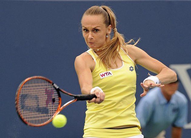 Slovenka Magdaléna Rybáriková v semifinále turnaje v New Havenu.