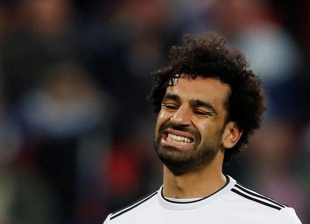 Egyptský kanonýr Mohamed Salah se v utkání MS proti Rusku dlouho tvářil docela nespokojeně, nakonec se dočkal gólu, když proměnil penaltu.