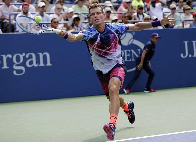Tomáš Berdych v duelu 1. kola US Open.