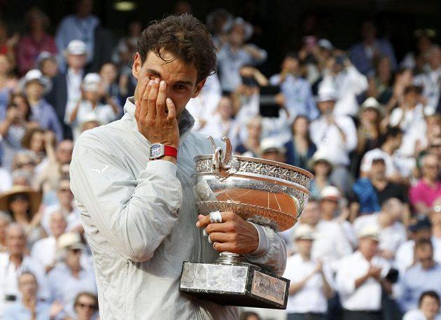 Rafael Nadal a jeho slzy štěstí.