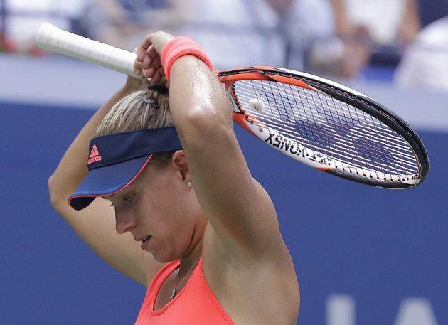 Angelique Kerberová z Německa při finále US Open s Karolínou Plíškovou.