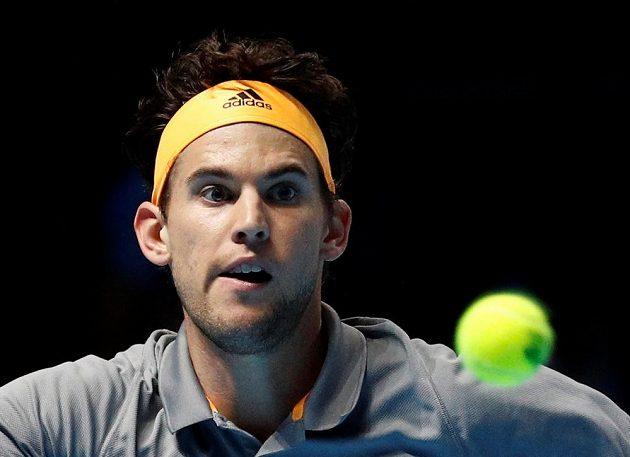 Dominic Thiem v semifinále Turnaje mistrů.
