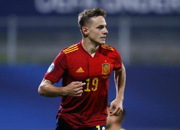 Španěl Dani Gómez se raduje gólu proti Česku.