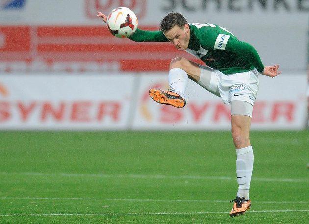Jablonecký záložník Ondřej Vaněk v podještědském derby s Libercem.
