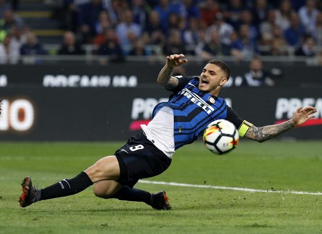 Mauro Icardi z Interu Milán v ligovém utkání proti Juventusu.