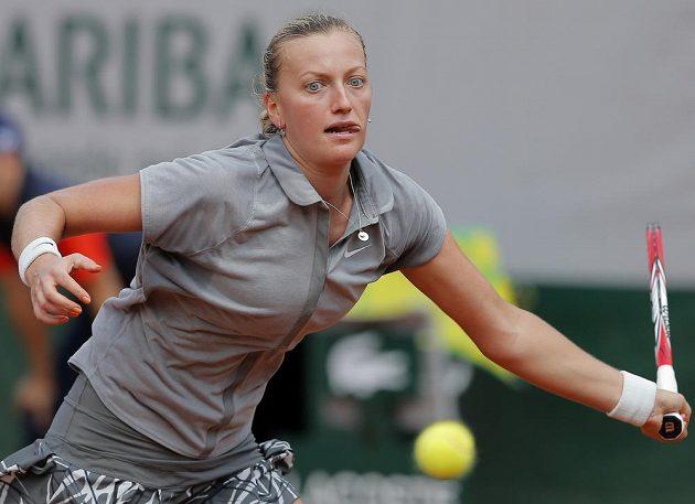 Petra Kvitová během zápasu 3. kola French Open proti Světlaně Kuzněcovové.
