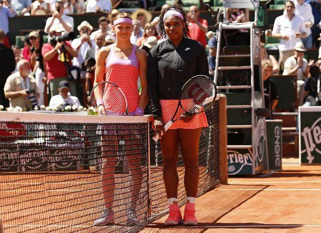 Lucie Šafářová a Serena Williamsová před finále tenisového Roland Garros.