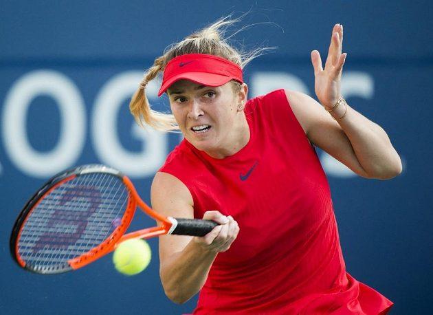 Ukrajinská tenistka Elena Svitolinová se s Rumunkou Halepovou nepárala.