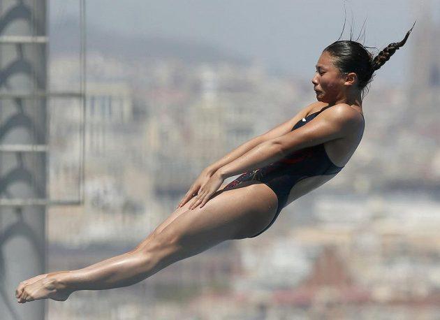 Číňanka Che C' na plaveckém MS v Barceloně.