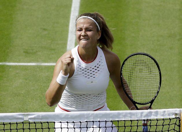 Karolína Muchová slaví senzační postup do čtvrtfinále Wimbledonu