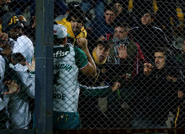 Copa Libertadores přináší nejen fotbalové zážitky. Při utkání mezi Peňarolem a Palmeiras se porvali hráči na trávníku i fanoušci v hledišti.