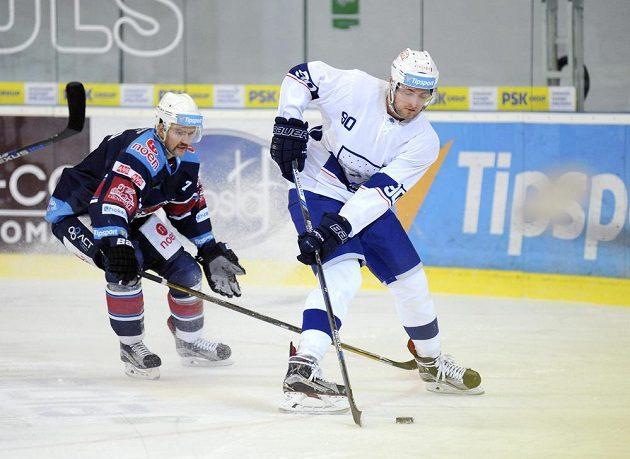 Zleva Tomáš Kudělka z Chomutova a Martin Dočekal z Brna.