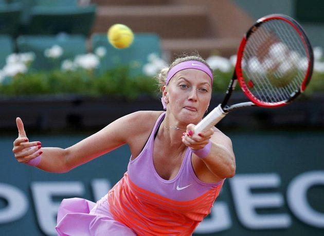 Petra Kvitová v osmifinálové bitvě na French Open.