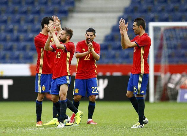 Španělští fotbalisté nastříleli proti Koreji šest gólů.