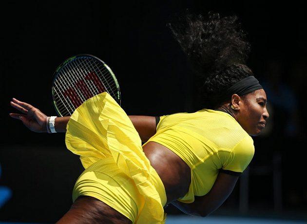 Americká tenistka Serena Williamsová (na snímku) vyřadila ve čtvrtfinále Australian Open Rusku Marii Šarapovovou.