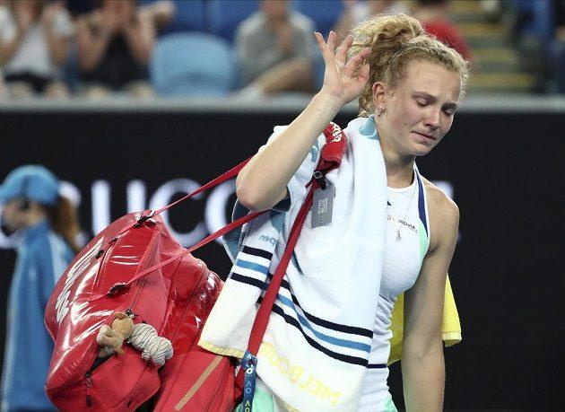 Kateřina Siniaková se rozloučila se soutěží v singlu na Australian Open velice záhy.