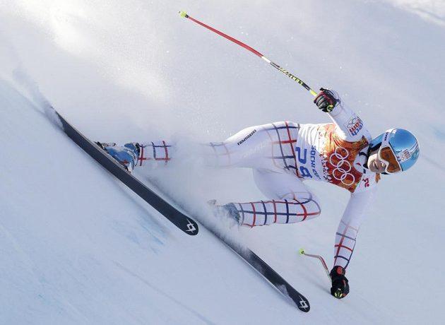 Klára Křížová dojela v olympijském sjezdu jednadvacátá.