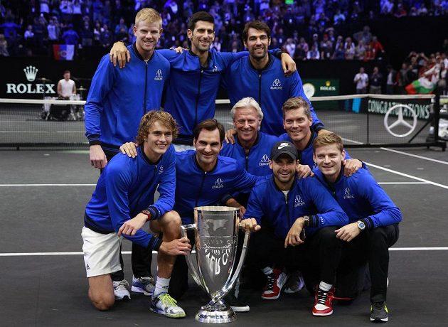 Tým Evropy slaví triumf v Laver Cupu