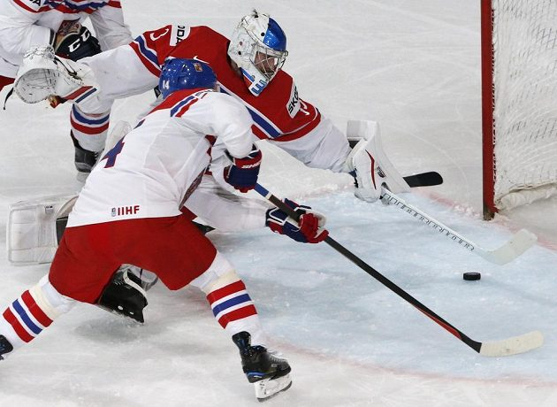 Nebezpečí společně zažehnali brankář Pavel Francouz a útočník Tomáš Plekanec.
