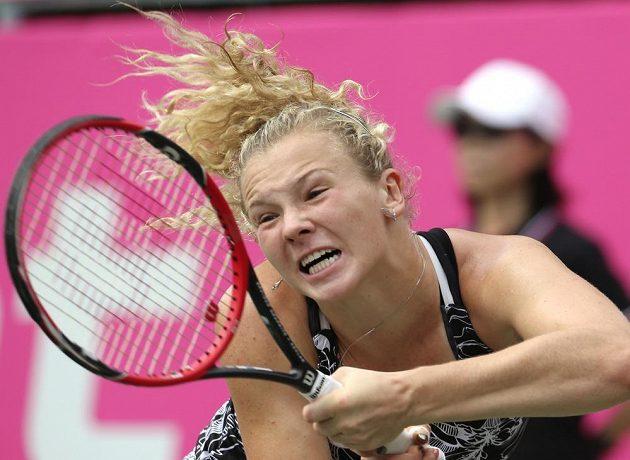 Česká tenistka Kateřina Siniaková na turnaji v Tokiu.