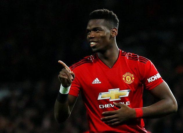 Paul Pogba z Manchesteru United se raduje z gólu proti Bournemouthu.