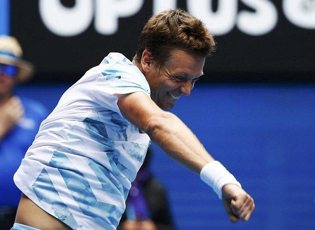Český tenista Tomáš Berdych si užívá radost z postupu do semifinále Austalian Open.