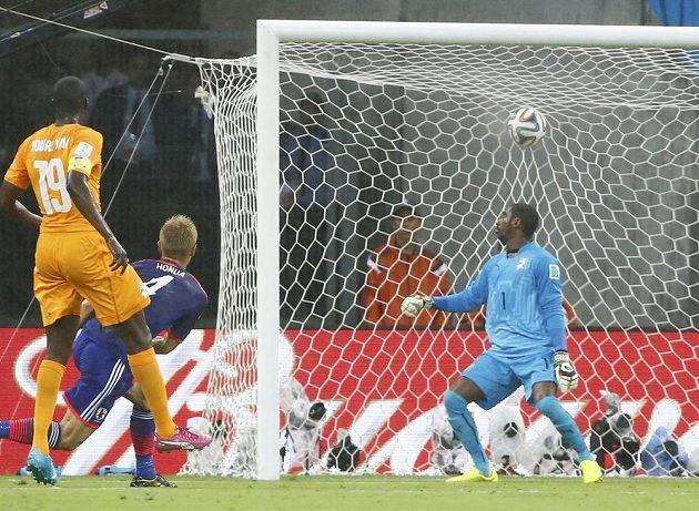Japonec Honda otevírá skóre duelu proti Pobřeží slonoviny na MS.