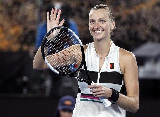 Petra Kvitová se po výhře nad Američankou Danielle Collinsovou může těšit na finále Australian Open.