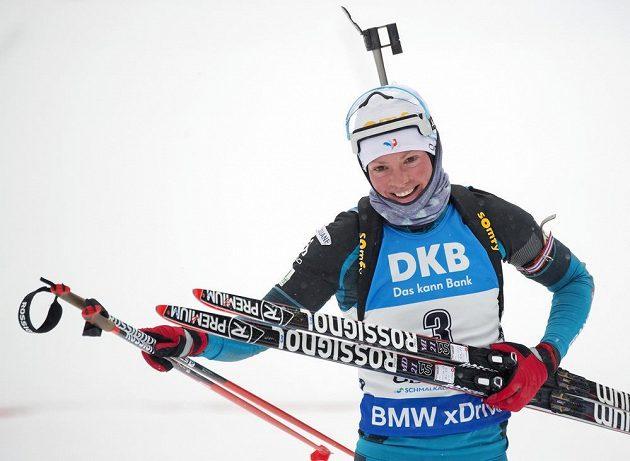 Francouzka Marie Dorinová-Habertová, vítězka sobotního stíhacího závodu SP v Oberhofu.