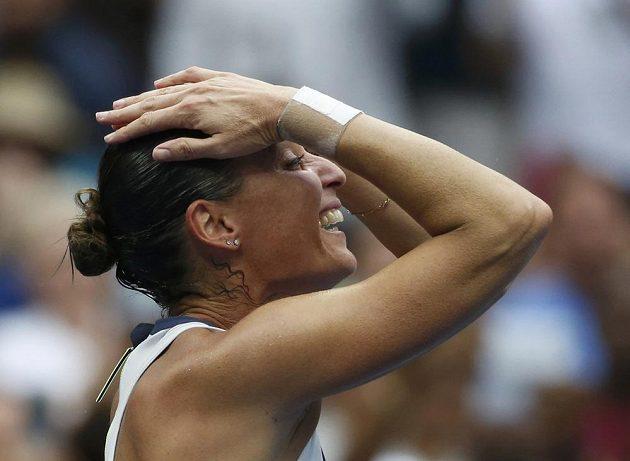 Obrovská radost zkušené tenistky.