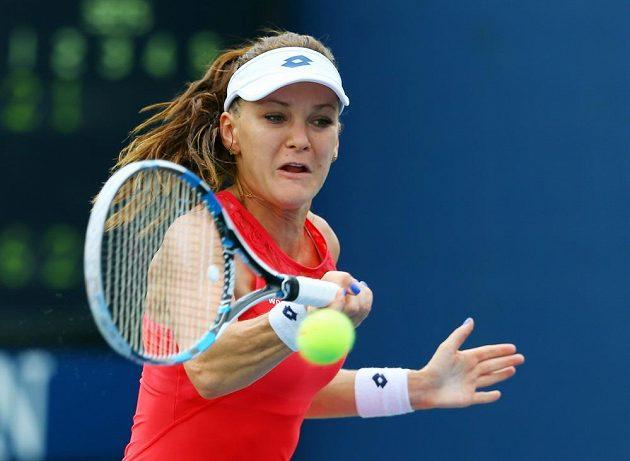 Polská tenistka Agnieszka Radwaňská v zápase US Open proti Kateřině Siniakové.